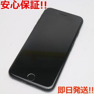 アイフォーン(iPhone)の美品 DoCoMo iPhone7 128GB ジェットブラック(スマートフォン本体)
