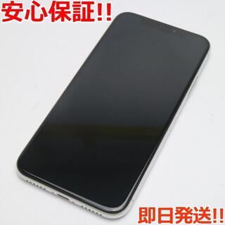 アイフォーン(iPhone)の美品 SIMフリー iPhoneX 64GB シルバー (スマートフォン本体)