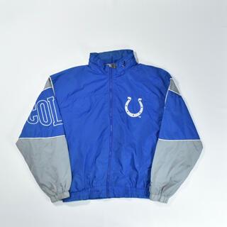 リーボック(Reebok)の90s NFL STARTER コルツ ナイロンジャケット ブルー 刺繍(ナイロンジャケット)