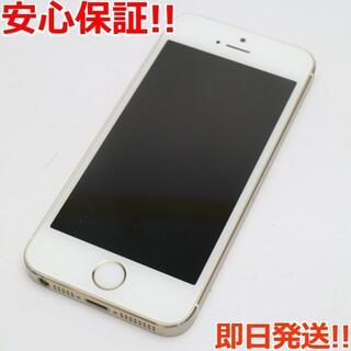 アイフォーン(iPhone)の美品 DoCoMo iPhone5s 32GB ゴールド 白ロム(スマートフォン本体)
