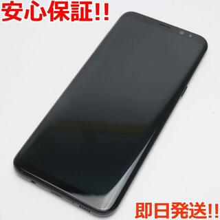 ギャラクシー(Galaxy)の新品同様 SC-03J Galaxy S8+ ブラック 白ロム(スマートフォン本体)