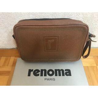 Renoma レノマ製 ブラウン レザークラッチバッグ