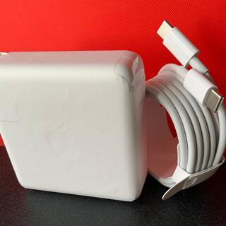 マック(Mac (Apple))のApple純正96w充電アダプター USBーC充電ケーブル(バッテリー/充電器)