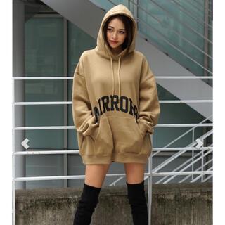 ALEXIA STAM - MIRROR9 Front Logo hoodie/BEIGE