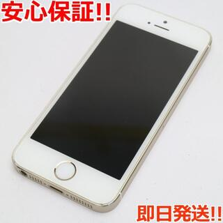 アイフォーン(iPhone)の美品 au iPhone5s 16GB ゴールド 白ロム(スマートフォン本体)