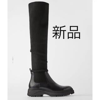 ZARA - 新品 ZARA ストレッチブーツ 完売品