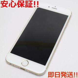 アイフォーン(iPhone)の超美品 DoCoMo iPhone6 64GB ゴールド 白ロム(スマートフォン本体)