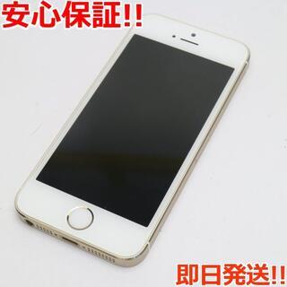 アイフォーン(iPhone)の美品 DoCoMo iPhone5s 64GB ゴールド 白ロム(スマートフォン本体)
