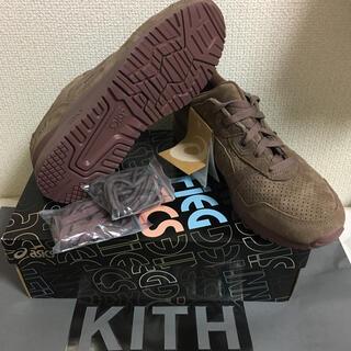 アシックス(asics)のブラウン茶色系 新品27.5cm kith asics gel-lyte3 キス(スニーカー)