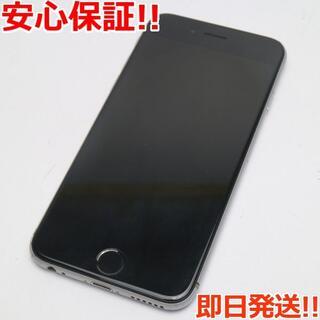 アイフォーン(iPhone)の美品 au iPhone6 128GB スペースグレイ (スマートフォン本体)