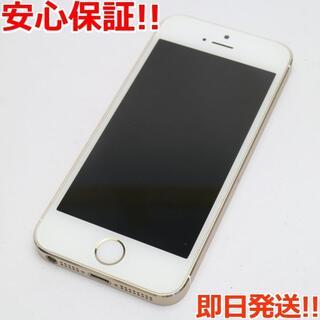 アイフォーン(iPhone)の新品同様 DoCoMo iPhone5s 32GB ゴールド 白ロム(スマートフォン本体)