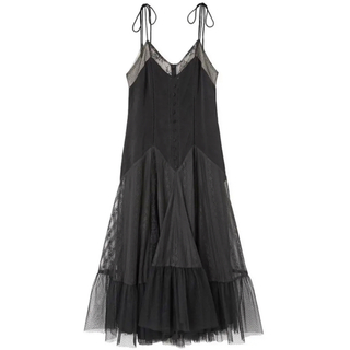 herlipto♡Lace Trimmed Satin Cami Dress