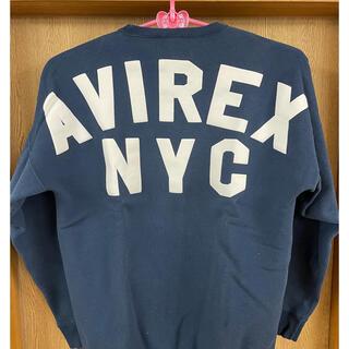AVIREX - アヴィレックス AVIREX ビッグロゴ スウェット トレーナー ネイビー