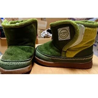 【IFME】 緑ムートンブーツ 12,5センチ(ブーツ)