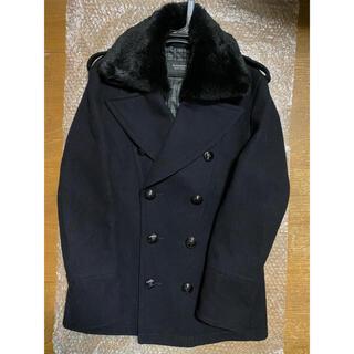 バーバリーブラックレーベル(BURBERRY BLACK LABEL)のBURBERRY BLACK LABEL Pコート(L)ラビットファーピーコート(ピーコート)
