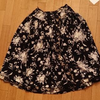 KANEKO ISAO - カネコイサオ  ピンクハウス  黒  花柄  スカート