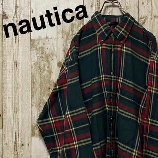 ノーティカ(NAUTICA)のノーティカ 長袖シャツ 旧刺繍ロゴ ビッグシルエット 90's  (シャツ)