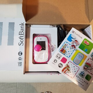 ソフトバンク(Softbank)のみまもりケータイ3 ピンク 標準セット(携帯電話本体)