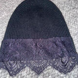 ビーシービージーマックスアズリア(BCBGMAXAZRIA)のニット帽レース(ニット帽/ビーニー)