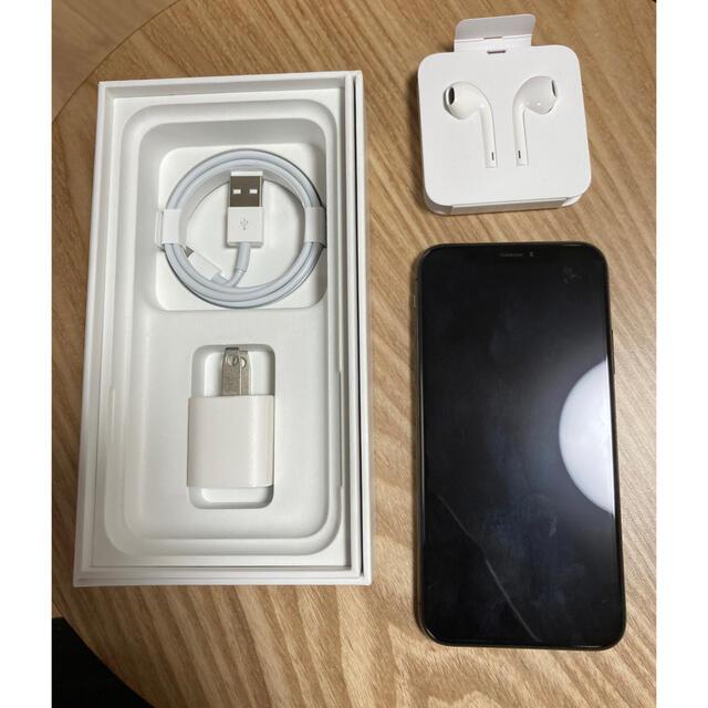 Apple(アップル)のiPhoneX スペースグレー 256G スマホ/家電/カメラのスマートフォン/携帯電話(スマートフォン本体)の商品写真