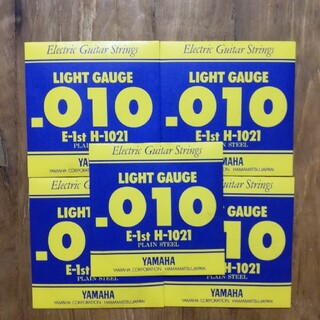 ヤマハ(ヤマハ)の✨即購入OK✨新品5本✨YAMAHA H1021 エレキギター用 バラ弦 1弦(弦)