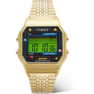 タイメックス(TIMEX)の新品未使用 timex t80 pacman パックマン ゴールド(腕時計(デジタル))