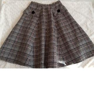エムズグレイシー(M'S GRACY)のエムズグレイシー チェック柄フレアースカート(ひざ丈スカート)