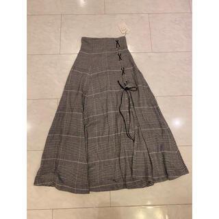 snidel - チェックレースアップスカート