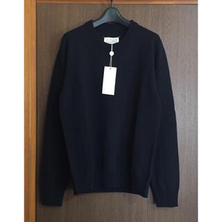 マルタンマルジェラ(Maison Martin Margiela)の黒M新品 メゾン マルジェラ メンズ カシミヤ混 ニット セーター ブラック(ニット/セーター)