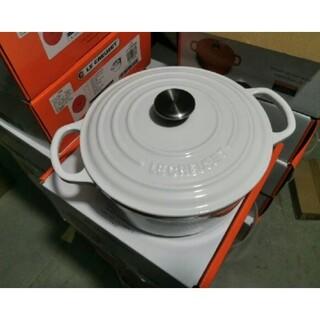 LE CREUSET - 24 鋳鉄STAUBエナメル鍋 ホワイト