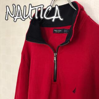 ノーティカ(NAUTICA)の古着 NAUTICA ノーティカ ハーフジップ アウター 刺繍ロゴ ゆるダボ(その他)