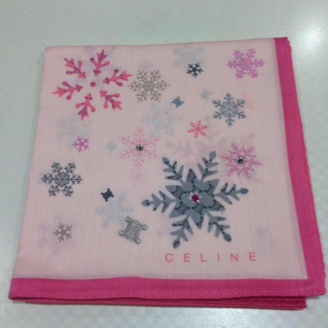 celine(セリーヌ)のセリーヌ 🎄 クリスマス ハンカチ レディースのファッション小物(ハンカチ)の商品写真
