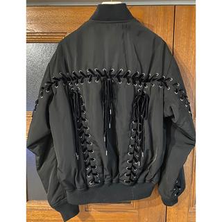 ジーヴィジーヴィ(G.V.G.V.)の2017AW G.V.G.V.レースアップMA-1ジャケット BLACK 36(ミリタリージャケット)