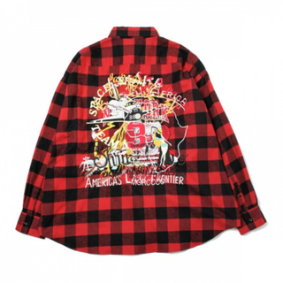 doublet CHAOS EMBROIDERY CHECK SHIRT