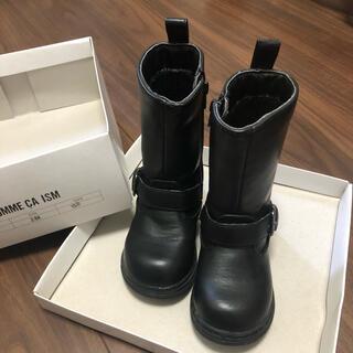 コムサイズム(COMME CA ISM)のブーツ コムサ 黒 15cm(ブーツ)