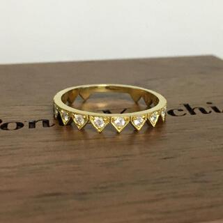 K18 オシャレ デザインリング  ダイヤモンド  海外セレブ セレクト