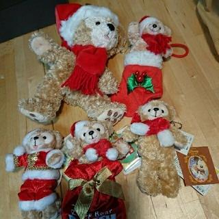 ダッフィー(ダッフィー)のレア ダッフィー 白タグ オープンマウス クリスマス(ぬいぐるみ)