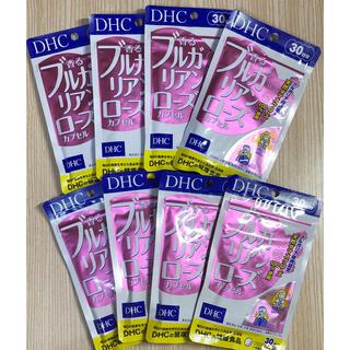 ディーエイチシー(DHC)のDHC 香るブルガリアンローズカプセル 30日分×8袋 ローズサロンエプロン付(口臭防止/エチケット用品)