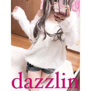 dazzlin - 2763.dazzlin シャギーニット 胸ポケット ゆるかわ トップス