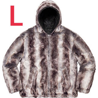 Supreme - supreme Faux Fur hooded jacket L