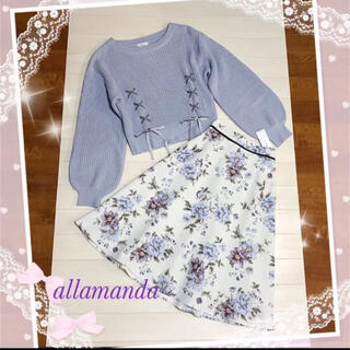 allamanda - アラマンダニット*タグ付きアラマンダスカート