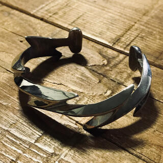 goro's - Aaron Anderson Lightning Silver Bangle