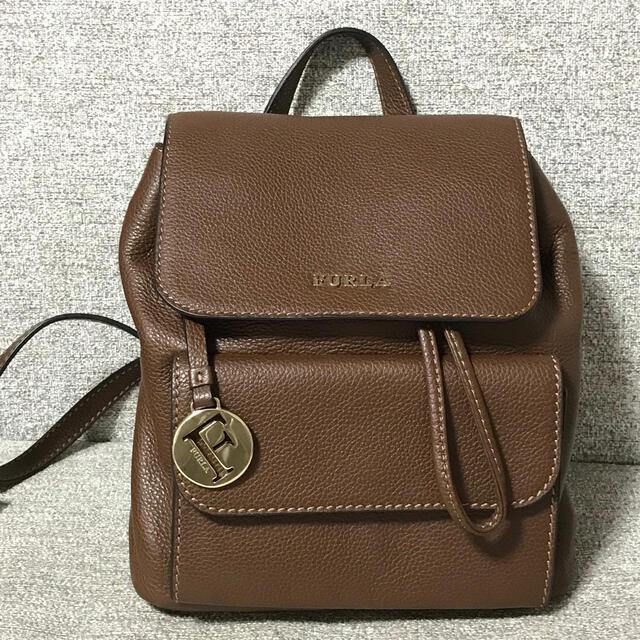 Furla(フルラ)のFURLA フルラ ミニリュック レザーブラウン レディースのバッグ(リュック/バックパック)の商品写真