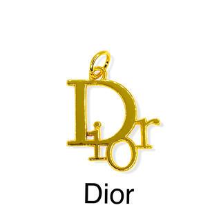 クリスチャンディオール(Christian Dior)のヴィンテージ ボタン★チャーム Dior★ゴールド(各種パーツ)