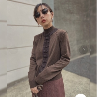 Ameri【新品】UNDRESSED BERRIES BUTTON KNIT(ニット/セーター)