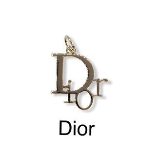 クリスチャンディオール(Christian Dior)のヴィンテージ ボタン★チャーム Dior★シルバー(各種パーツ)
