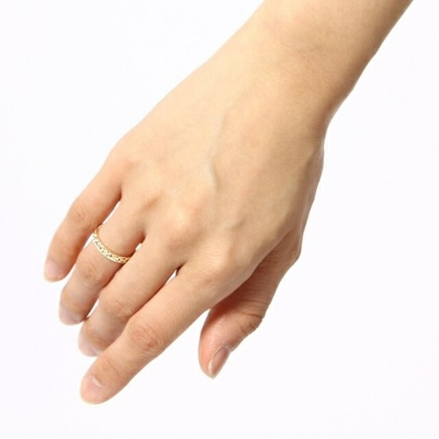 agete(アガット)のお箱代金込み【agete】透かし模様ダイヤ付き リング レディースのアクセサリー(リング(指輪))の商品写真