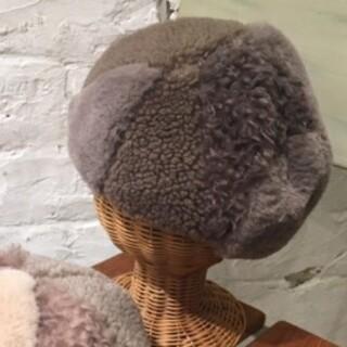 サマンサモスモス(SM2)のSM2サマンサモスモス 今季新作ボアパッチワークベレー新品 モカ(ハンチング/ベレー帽)