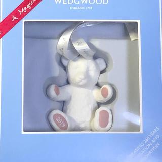 ウェッジウッド(WEDGWOOD)のウェッジウッド クリスマスオーナメント テディベアピンク☆新品未使用☆箱入り(置物)