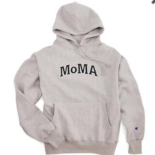 MOMA - Champion フーディー パーカー MoMA Edition M グレー